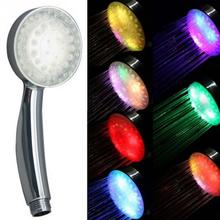 2017 New Romantic 7 Colors Changing LED Light Shower Head Water Bath Home Bathroom Glowing Shower Head