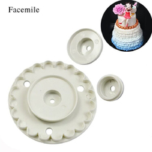 gift 4PCS Frill Lace Skirt Rim Plunger Cutter Barbie Doll Decorate Cake Mold Sugarcraft For Fondant Kitchen Baking Cookie Tool(China)