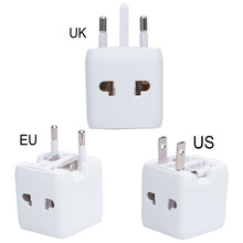 Universal International Plug Adapter 2 USB Port All in One World Travel AC Power Charger Adapter with US UK EU Converter Plug