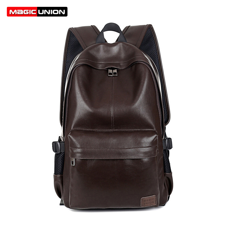 MAGIC UNION Fashion Men Leather Backpack Exquisite Craftsmanship Business Backpacks For Men Durable Mochila Man Shoulder Bags<br>