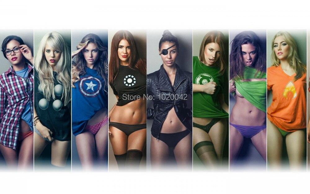 обои на рабочий стол девушки в футболках супергероев № 243152 без смс