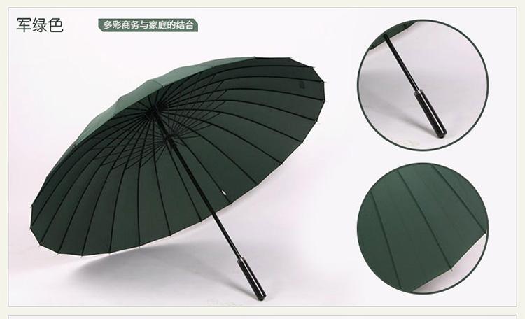 Hot sell Creative long handle outdoor 24 Rib bone straight umbrella large golf umbrellas two or three people compact umbrellas 26