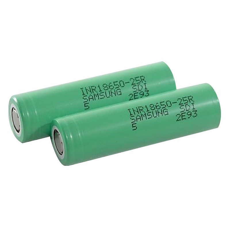1pc For Samsung INR18650-25R 3.7V Drain Flat Top Rechargable Battery 2500mAh