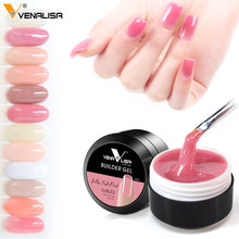 Venalisa factory supplier nail art transparent clear, white ,pink color camoulfage uv builder nail extend constraction poly gels(China)