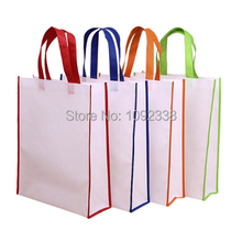Wholesale 500pcs/lot reusable non woven shopping bags promotional bag 6 sizes,4 colors print your own logo  Free Shipping By TNT