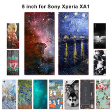 "Buy Soft TPU Coque Sony Xperia XA1 Case Scenery Painted Phone Cases Sony XA1 G3121 G3112 G3123 G3116 Dual 5.0"" Covers for $1.43 in AliExpress store"