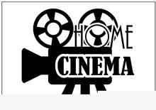 Cinema Vinyl Wall Decal Camera Video Home Cinema Quotes Wall Sticker Movie Studio Wall Sticker Bedroom Decorative Decoration(China)
