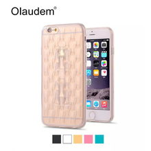 I6 Ultra Thin TPU Ice Diamond Slim Crystal Phone Cases For Apple iPhone 6 6S 4.7 inch Silicone Back Cover Rubber Phone Bag 31X(China)