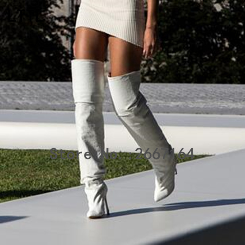 2017 Fashion Sexy Suede Winter Boots Ladies High Heel Shoes Woman Over The Knee Thigh High Boots<br><br>Aliexpress