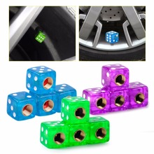 CITALL 4pcs/set Dice Tyre Cap Tire Air Valve Stem Caps Dust Cover Car Truck Auto Bike Motorcycle Wheel Rim Accessories(China)
