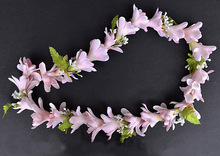 New  Free shipping KL36159A 50 PCS /lot   6 colos Mixed   Felt tuberose necklace  lei (Headband match)  Hawaii party Beach