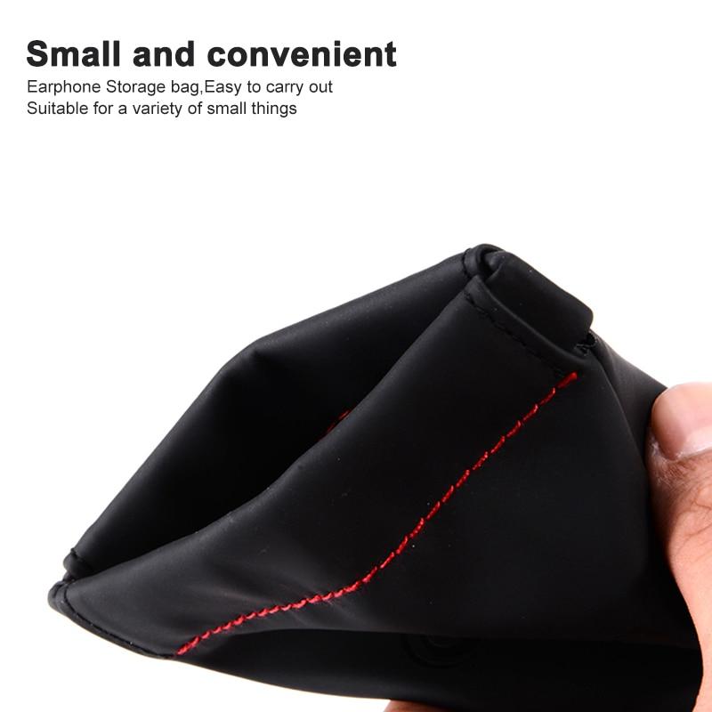 Mini Earphone Case PU Leather Waterproof Headphone case Portable Shortage Bag For headphones Earphone Mp3 Date Wires (3)