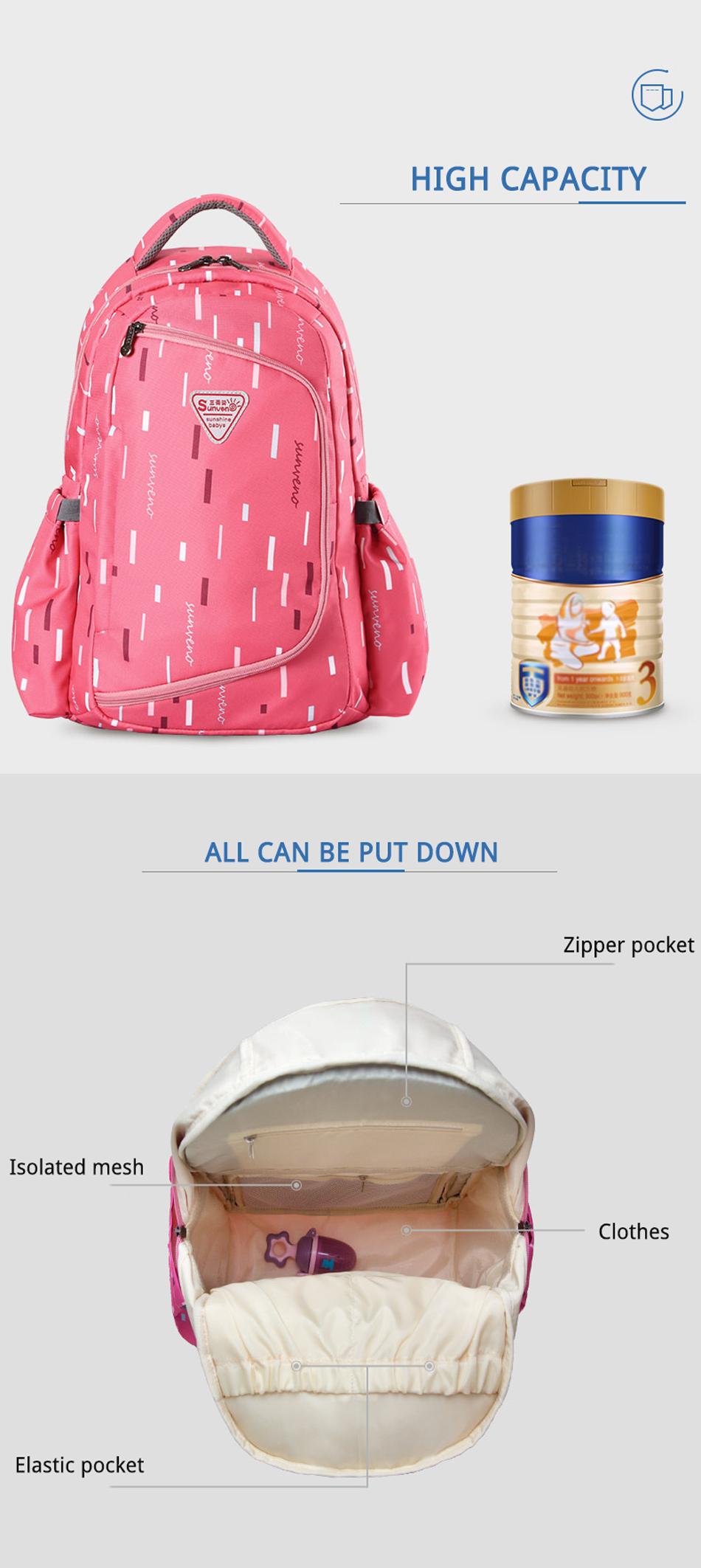 SUNVENO حقيبة مستلزمات الطفل 6