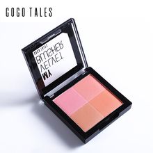 2016 New Blusher Makeup Baking Blush Bronzer Palette 3d Face Contour Comestic Eye Shadow Highlighter Shading Powder GOGO TALES