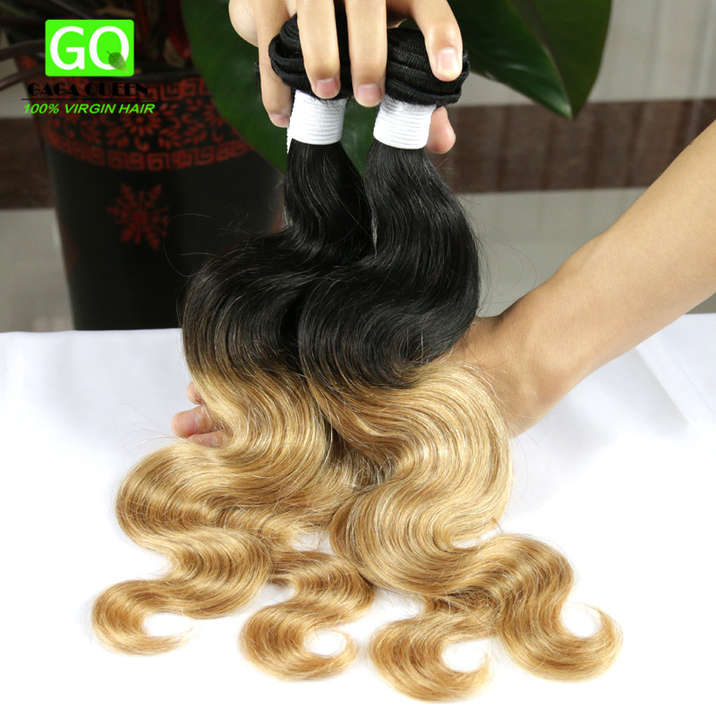 #1B/27 Ombre Hair Extensions Cheap 7A Unprocessed Malaysian Virgin Hair Body Wave 3PCS Two Tone Ombre Malaysian Body Wave hair<br><br>Aliexpress