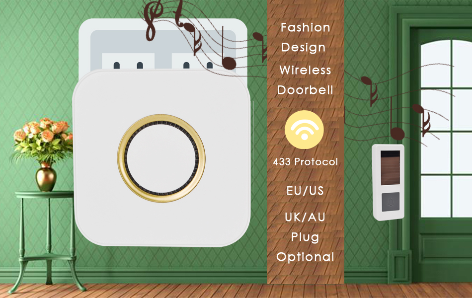 05CTVMAN Wireless Doorbell Solar Powered Push Wireless Doorbell