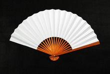 White Paper Fan Hand Fan Japanese Fan Disposable Props for Wedding Party Birday Showers Festival Graffiti Painting
