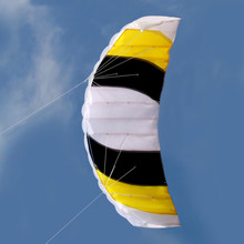 High Quality Power Dual Line Stunt Parafoil Parachute Beach Kite For Beginner Outdoor For Fun Gift(China)