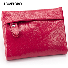 Lomelobo Lichee pattern Split Leather Fashion Wallets Women's Short Purses Cowhide Card Clutch Wallets Lady Pocketbook HDPL-604S(China)