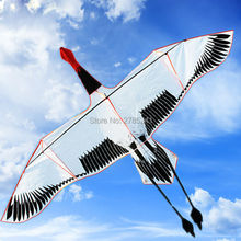 Huge 9ft white bird kite single line outdoor game sports for kids Delta kites kids with flying line