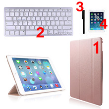 1 Set Ultra Slim 2.4GHz Wireless Bluetooth 3.0 Keyboard + Case Cover + Screen Film + Stylus Pen For iPad air2/6