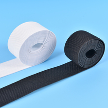 1M Long Black White Elastic Band for Underwear Handmade Sewing DIY Accessories Flat Elastic Band for Baby Pants Clothes 2.5cm(China)