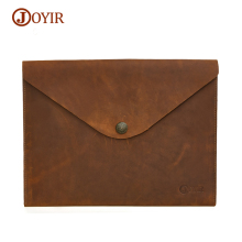 JOYIR Men's Bags Genuine Leather Document Bag A4 Ipad Bag Leather Solid Vintage Hasp Handbag Male Clutch Bag Envelope For Men