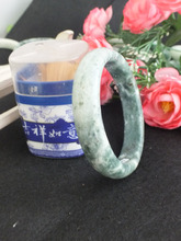 New- Chinese Genuine Natural Grade A Green Natural stone Bracelet Bangle 63mm! 3pc sent at random!(China)