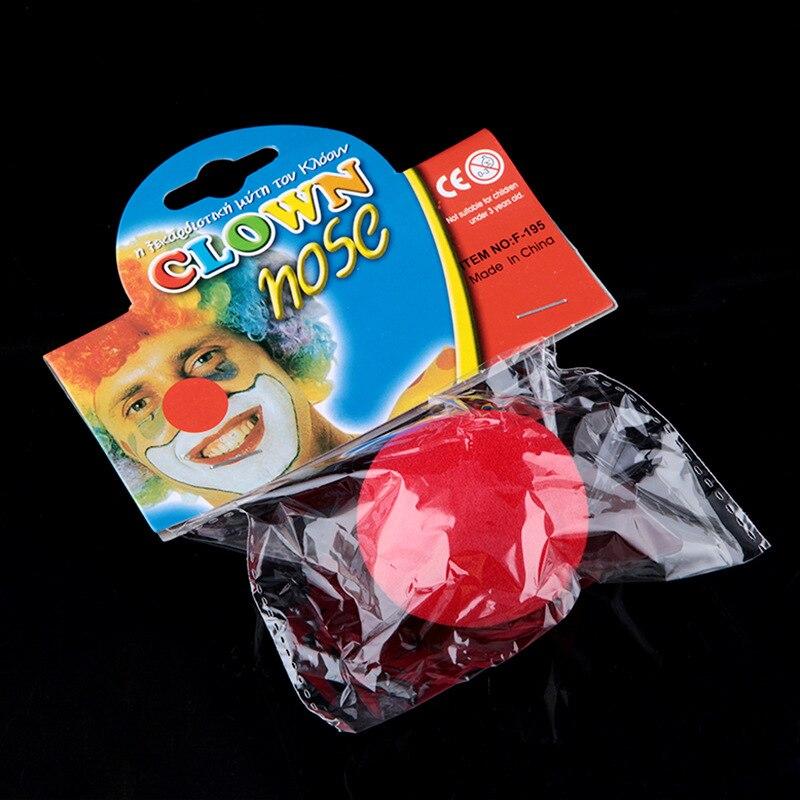 cheap new 2 pcs clown nose red sponge ball halloween cospay props clown dress up performance - Cheap Halloween Props