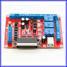 6Axis MACH3 CNC breakout board interface adapter board for stepper motor driver motion control card !