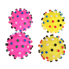 4pcs Pet Dog Puppy Chew Toys Anti Bite Chewing Plush Sound Cute Dogs Soft Non-toxic Rubber Hedgehog Interactive Toy Pet Product(China)