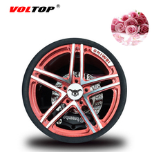 VOLTOP Car Wheel Hub Perfume Container Air Freshener Nave Boss Car Air Outlet Scent Clip Wheel Rim Model Alloy Plating Color