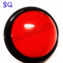 Free shipping 100mm 10cm 5 colors Jumbo Dome Illuminated Arcade Push Button Switch Machine Pressure Controler Switches(China)