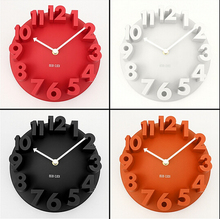 4 Colors Excellent 3D Home Decor Fashion Modern Art Decorative Dome Round Wall Clock Watch Bell Best Price Free Shipping
