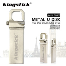 Free shipping 32G 64G 128G USB 2.0 USB flash drive silver metal pen drive 4G 8G 16G memory stick high quality U disk pendrive