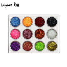 Hot Sale 12 Beauty Colors Shiny Nail Glitter Powder Dust Fashion Strip Lace Tips Decoration(China)