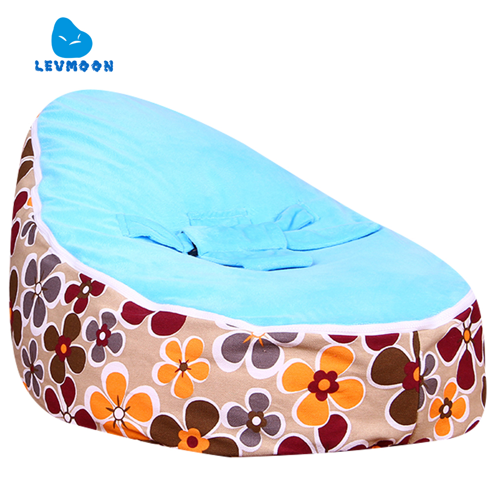 Levmoon Medium Yellow Plum Flower Bean Bag Chair Kids Bed For Sleeping Portable Folding  Child Seat Sofa Zac Without The Filler<br><br>Aliexpress