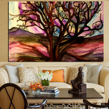 Tree of the Desert Pop Art Abstract Oil Painting Digital Prints Canvas Art Wall Picture Living Room Poster Sofa Cuadros Decor(China)