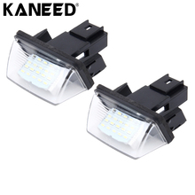 Car License Plate Light LED SMD3528 Number Plate Lamp Bulb Kit For Citroen C3 11C3 PICASSO BERLINGO B9/ M49/ M59 Peugeot 2 pcs(China)