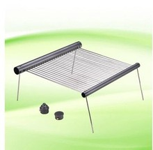 Outdoor Folding Iron Camping BBQ Portable Cooking Travel Barbecue Grills Ultralight Oven rack for a tube camping grill tools(China)