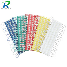 RiRi won 20 pcs 5730 LED Module 12V Injection Molding Module clear lens waterproof IP65 red green blue Yellow Pink Warm white(China)