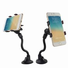Dock Car Mount Long Arm Universal Windshield Dashboard Cell Phone Holder with Strong Suction Cup For iPhone 4 4S 5 6 6S Plus GPS