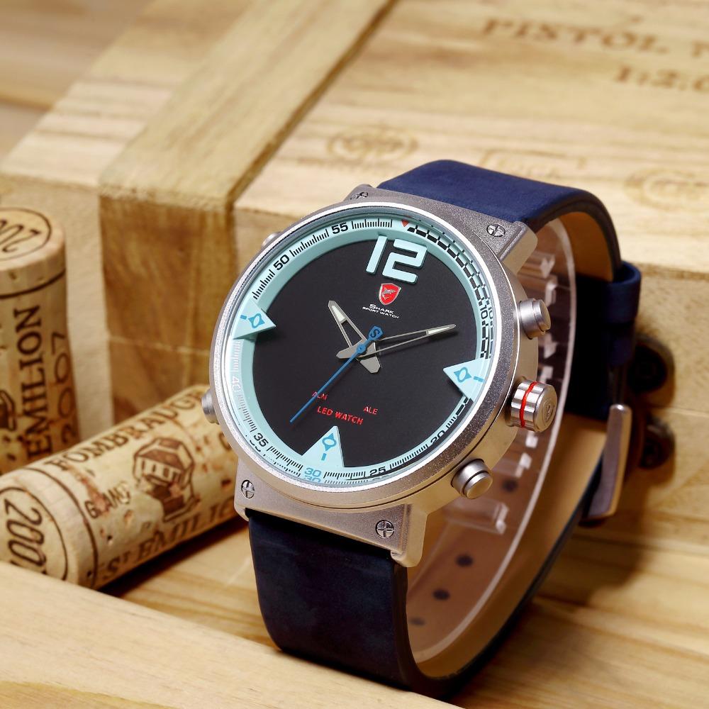HTB1pZl3dgDD8KJjy0Fdq6AjvXXaM - Bluegray Carpet Shark Sport Watch - Blue SH547