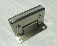 Door Hardware Wall Mount Glass Shower Door Hinge  (90 Degrees is open)