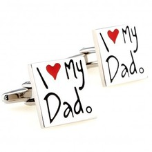 I Love My Dad Cufflink 1 Pair Retail Free Shipping Promotion(China)