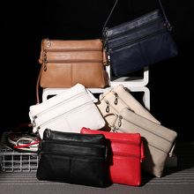 2017 new fashion women crossbody shoulder bags woman messenger bags double zipper high quality PU leather sling bag sac a main(China)