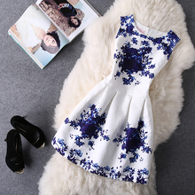 2017 Women Summer Bodycon Vest Dress Vintage Printed Sexy Party Vestido De Festa Female Clothing A Line Black Casual Dresses(China)