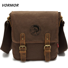 VORMOR Brand Thick canvas bag high quality men messenger bags fashion shoulder bags brand men bag