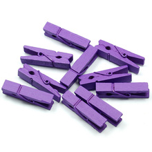 20pcs 35MM Mini Colored Spring Wood Clips Clothes Photo Paper Peg Pin Clothespin Craft Clips Party Decoration