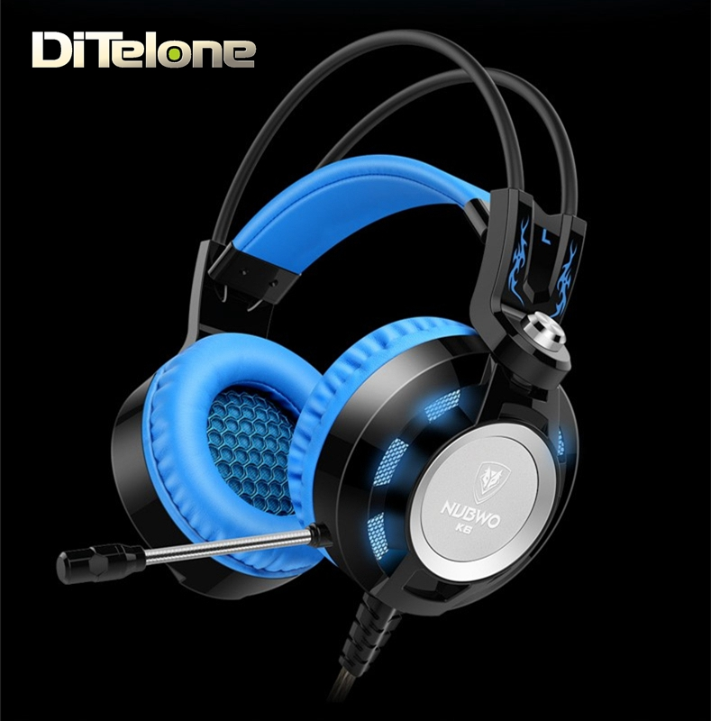 NUBWO K6 Gaming Headphones Wired Bass Headset With Noise Cancelling Video Game For Computer Laptop White/Blue/Green/Orange/Red<br><br>Aliexpress